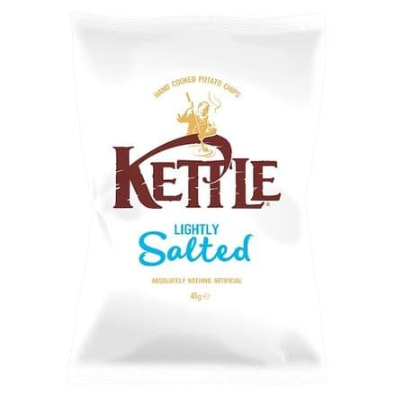 Kettle Chips Lightly Salted 40g x 18 Bags, Gluten Free Crisps