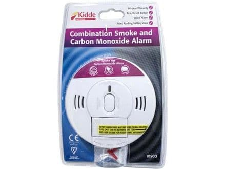 Kidde Combination Smoke and Carbon Monoxide Alarm with Screw Fixings Included