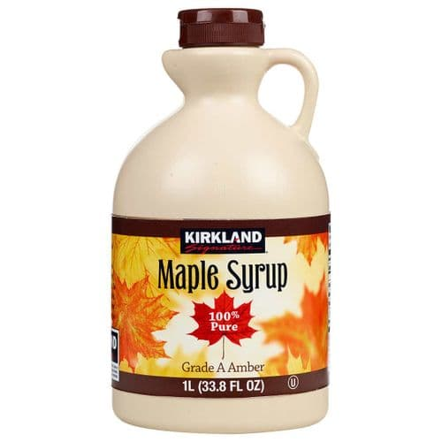 Kirkland Signature 100% Pure Grade A Amber Maple Syrup, 1 Litre Bottle
