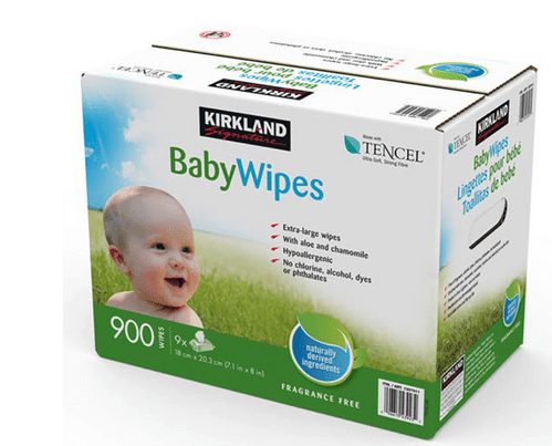 Kirkland Signature Baby Wipes Ultra Soft 900 Wipes with Flip-Top Lid Dispenser