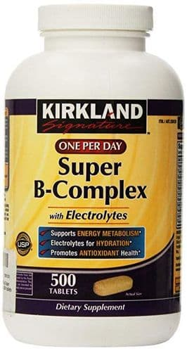 Kirkland Signature Super-B Complex, 500 Tablets 16 Months Supply Food Supplement