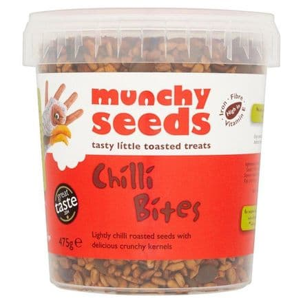 Munchy Seeds Chilli Bites High in Iron, Fibre, Vitamin E, Resealable Tub