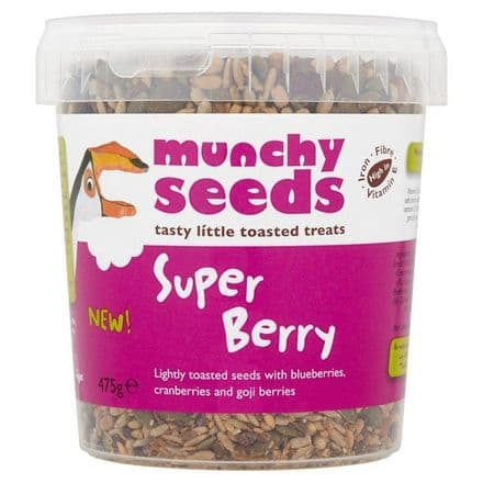 Munchy Seeds Super Berry 475g, High in Iron, Fibre, Vitamin E, Resealable Tub