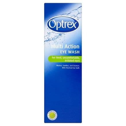 Optrex Multi Action Eye Wash 300ml Bottle for Tired, Uncomfortable & Irritated Eyes