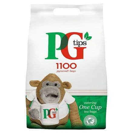 PG Tips 1100 One Cup Pyramid Tea Bags 2.2KG Catering Bag