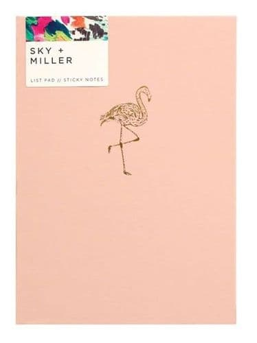 Sky + Miller Flamingo Memo Notes, Designed in UK