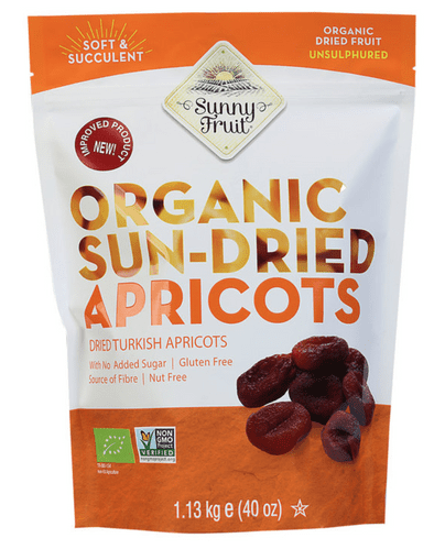 Sunny Fruit Organic Sun Dried Turkish Apricots Natural Juicy Tender Pack 1.13kg