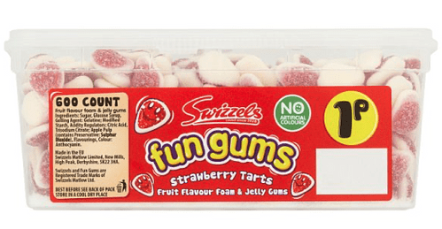 Swizzels Fruit Flavour Foam and Jelly Fun Gums Strawberry Tarts