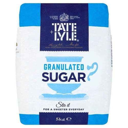 Tate & Lyle Granulated Sugar 5kg - Stir it For a Sweeter Everyday