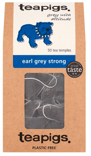Teapigs Earl Grey Strong Tea Temples, 50-Count