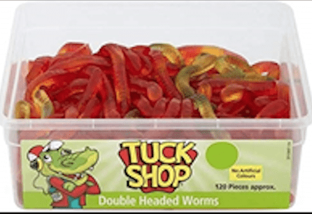 Tuck Shop Double Headed Worms (120 Pieces)