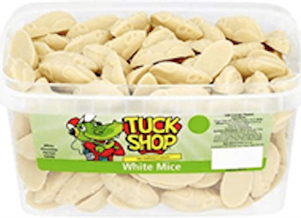 Tuck Shop White Mice x 120 Candy Pieces
