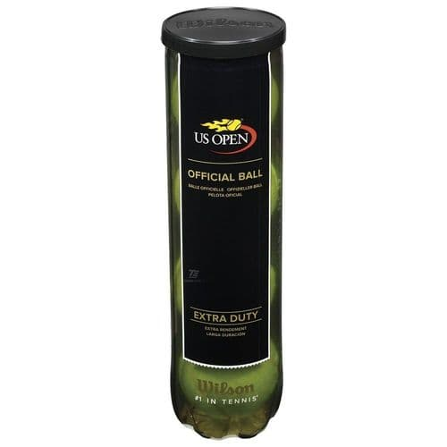 Wilson US Open Extra Duty Official Tennis Balls, 1 Sealed Tube of 4 Balls