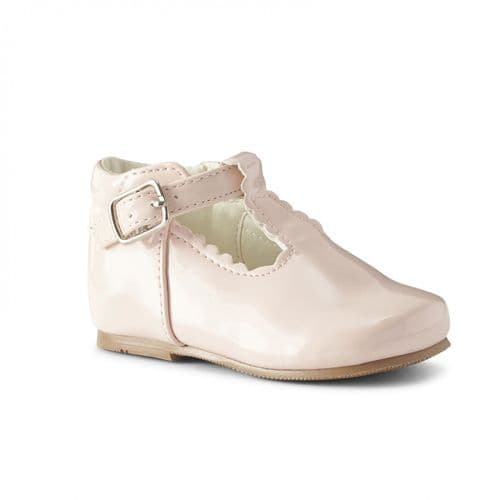 "Baby Girls Patent T-Bar Shoes ""Arianna Pink"""