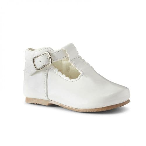 "Baby Girls Patent T-Bar Shoes ""Arianna White"""