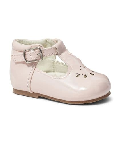 "Baby Girls Patent T-Bar Shoes ""Tia Pink"""