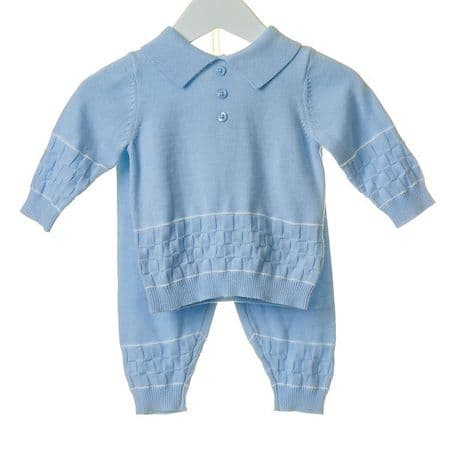 Lovley Baby Boy Long Sleeve Fine Knit Collar Suit Pure Cotton