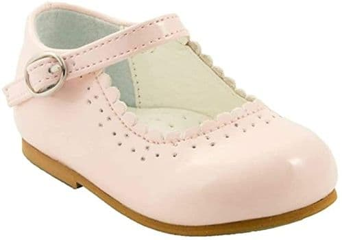 "NEW Baby Girls Patent Bar Shoes ""Emma Pink"""