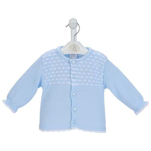 New Gorgeous Baby Boy Blue Dash Knitted Cardigan