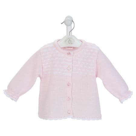 New Gorgeous Baby Girl Pink Dash Knitted Cardigan