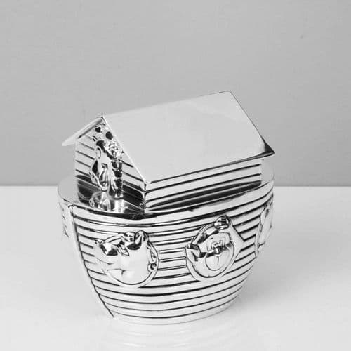 Silver Plated Noah's Ark Money Bank by Bambino WY5086 Gift