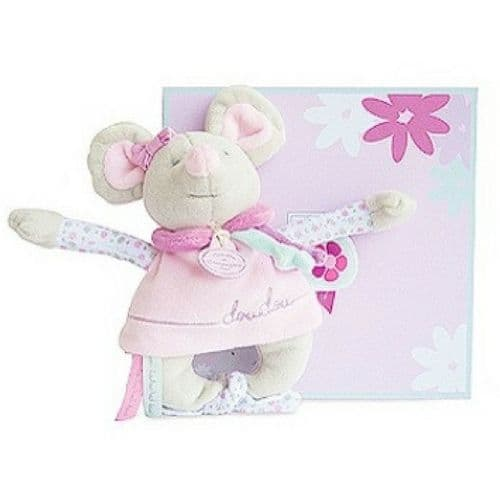Doudou et Compagnie Pearly Mouse Rattle