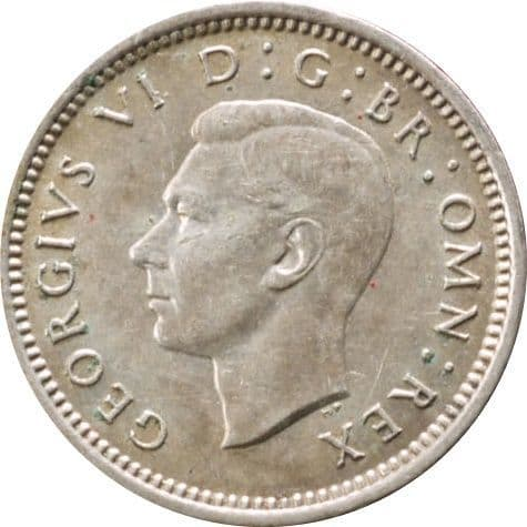 Silver Three Pence George VI For sale