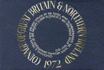 1972 Proof Coinage Of Great Britain and Northern Ireland 7 Coin Set