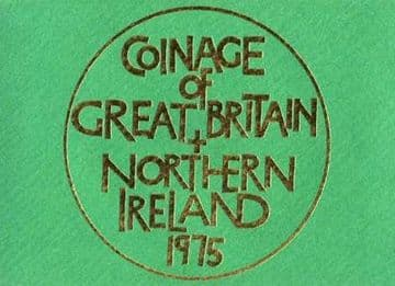 1975 Proof Coinage Of Great Britain and Northern Ireland 6 Coin Set