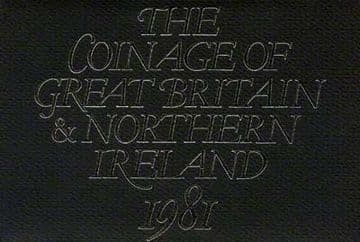 1981 PROOF COINAGE OF GREAT BRITAIN AND NORTHERN IRELAND 6 COIN SET