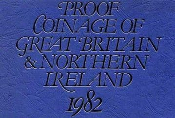 1982 PROOF COINAGE OF GREAT BRITAIN AND NORTHERN IRELAND 7 COIN SET