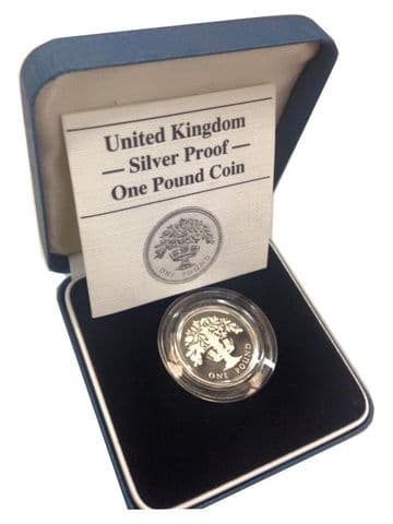 1987 Silver Proof One Pound Coin