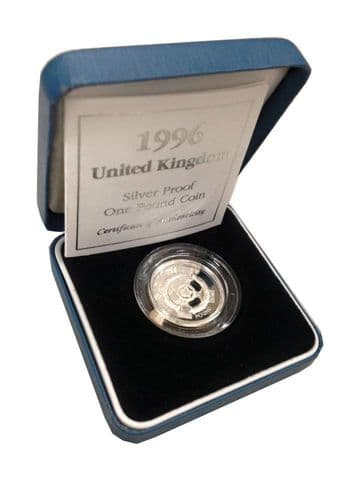 1996 Silver Proof One Pound Coin