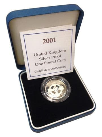 2001 Silver Proof One Pound Coin