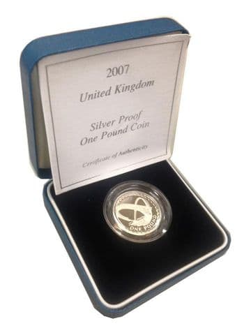 2007 Silver Proof One Pound Coin