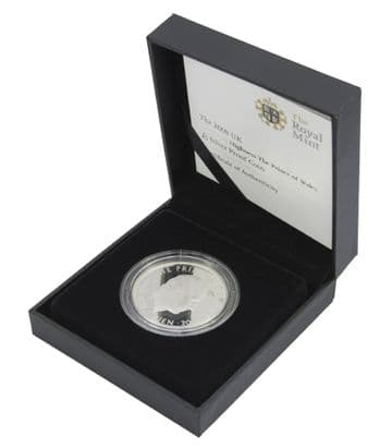 2008 Silver Proof £5 Coin Prince Charles