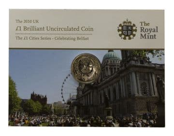 2010 £1 Belfast One Pound Brilliant Uncirculated pack