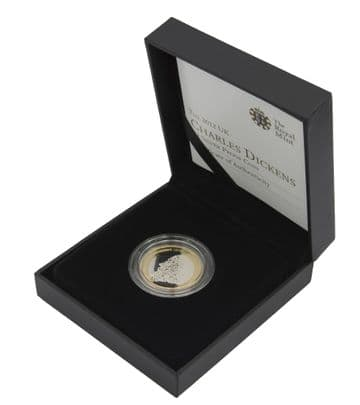 2012 Silver Proof £2 Charles Dickens