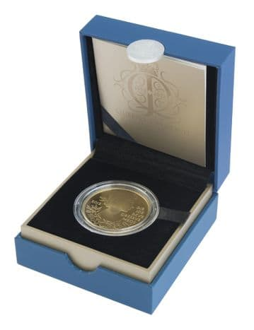 2012 Silver Proof £5 Coin Golden Jubliee Gold plated