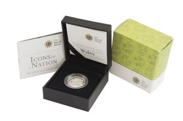 2013 Silver Proof One Pound Coin - Floral Wales