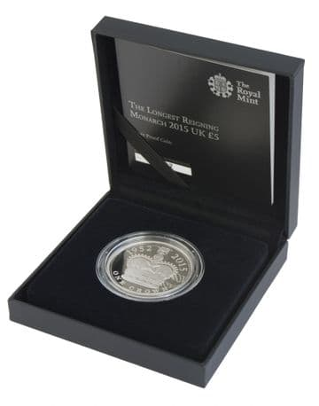 2015 Silver Proof £5 Coin Longest reigning Monarch