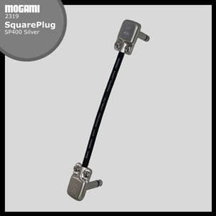 Mogami 2319 Pedalboard Patch Lead with SquarePlug SP400 Jacks - Choice of  length - SILVER