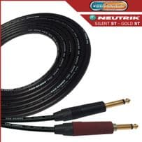 Van Damme Guitar Lead - instrument Cable with Neutrik Silent ST -  Gold plated ST