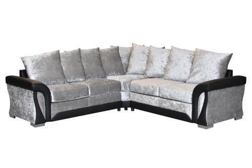 Balor Crushed Velvet Corner Sofa