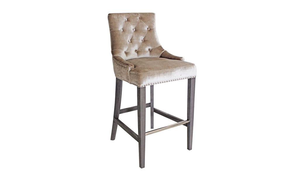 Belvedere Knockerback Bar Chair - Champagne