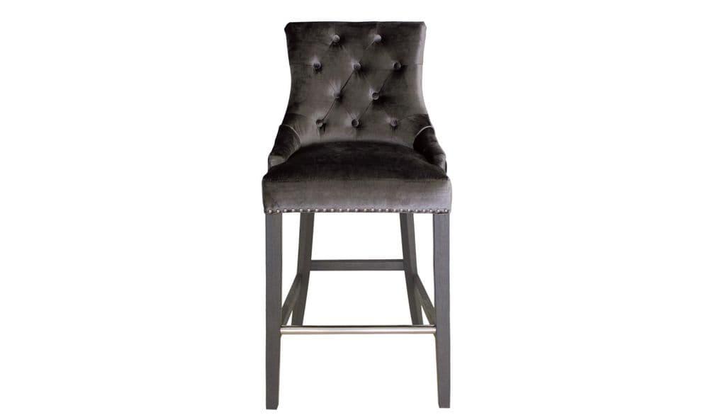 Belvedere Knockerback Bar Chair - Charcoal