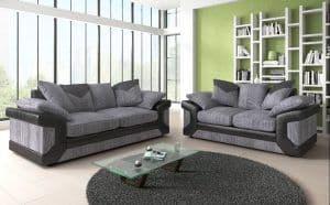 Blush 3+2 Grey/Black Scatter Sofa Set