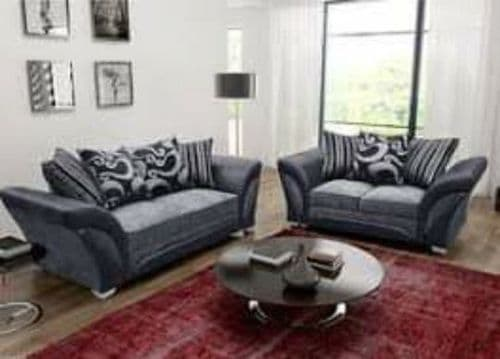 Chanel Fabric 3+2 Sofa Set