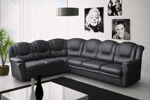 Dakota Faux Leather Corner Sofa