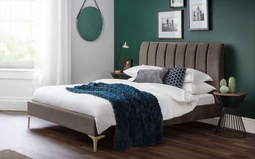 Decoy Scalloped Velvet Bed